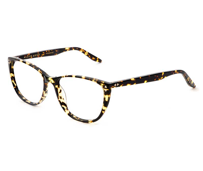 Alexis Amor Lola SALE frames in Gloss Black Amber Fleck