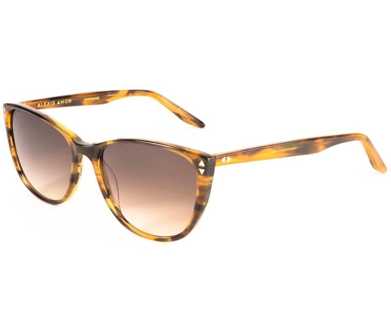 Alexis Amor Lola sunglasses in Brown mid Stripe