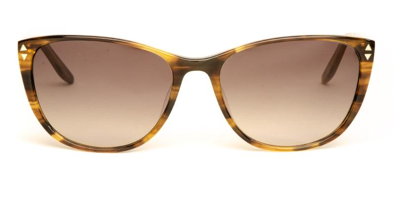 Alexis Amor Lola sunglasses in Brown mid Stripe