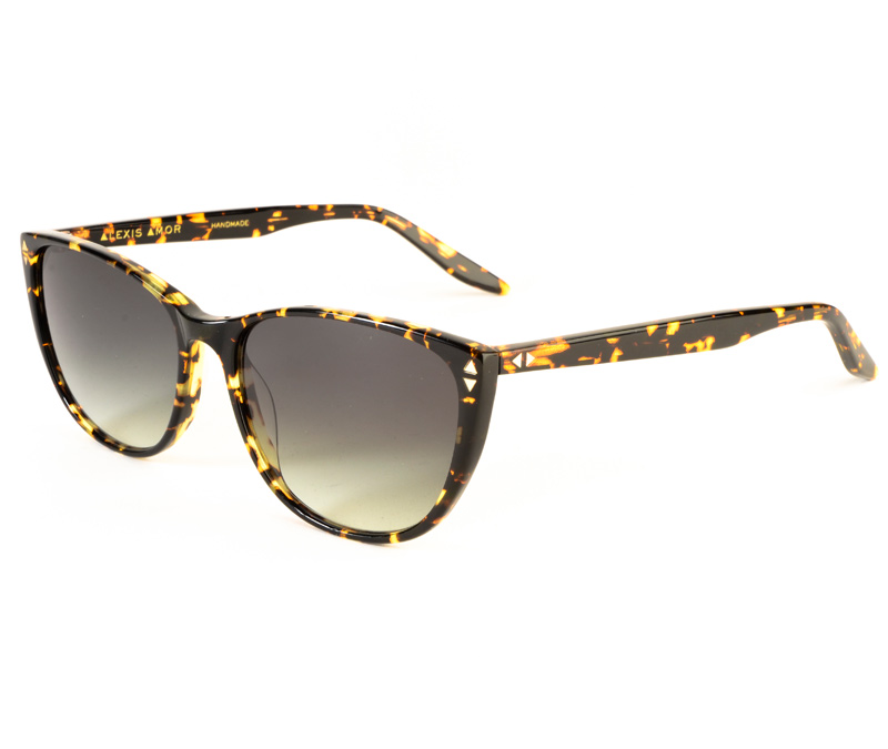 Alexis Amor Lola SALE sunglasses in Gloss Black Amber Fleck