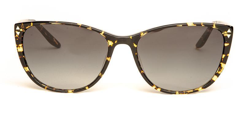 Alexis Amor Lola sunglasses in Gloss Black Amber Fleck
