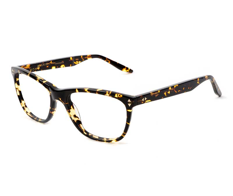 Alexis Amor Luce SMALL SALE frames in Gloss Black Amber Fleck