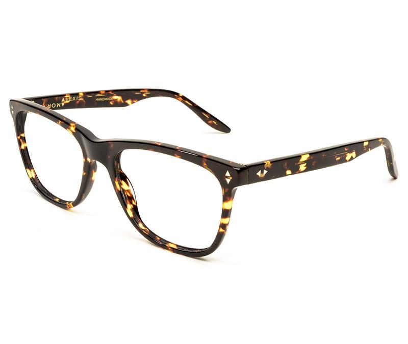 Alexis Amor Luce Large SALE frames in Gloss Black Amber Fleck
