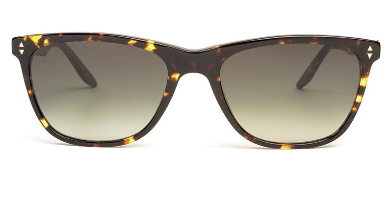 Alexis Amor Luce Large sunglasses in Gloss Black Amber Fleck