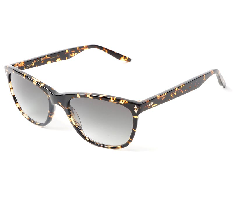 Alexis Amor Luce SMALL SALE sunglasses in Gloss Black Amber Fleck