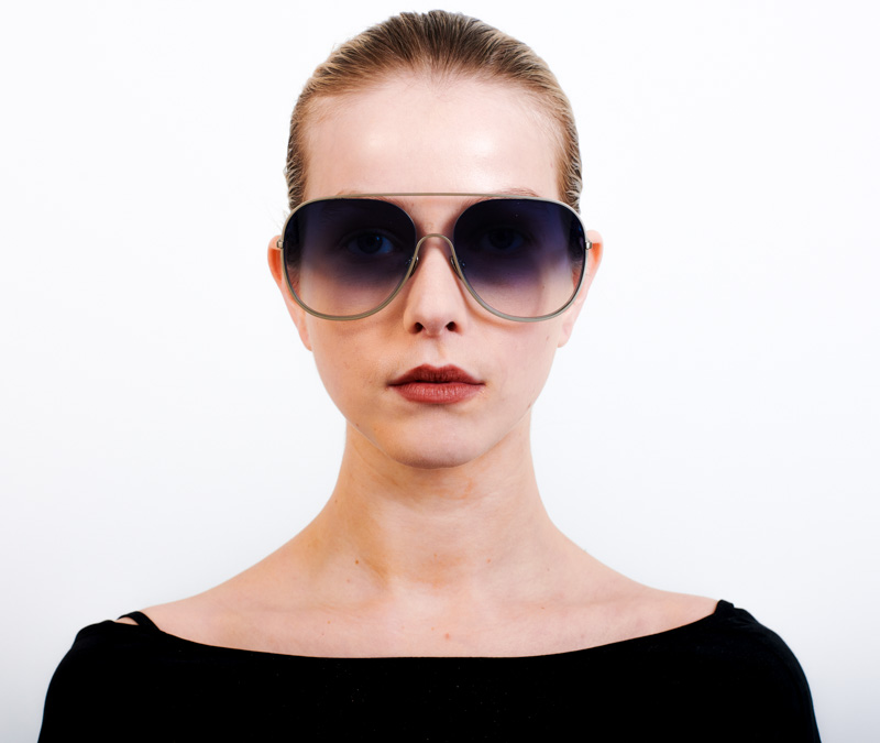 Alexis Amor Marley sunglasses in Matte Silver Gloss Black