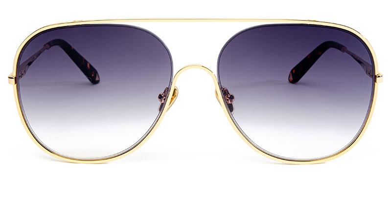 Alexis Amor Marley sunglasses in Mirror Gold Amber Fleck