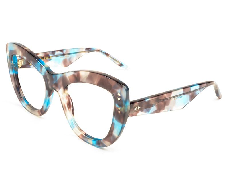 Alexis Amor Nathalie frames in Blue Havana Tortoise