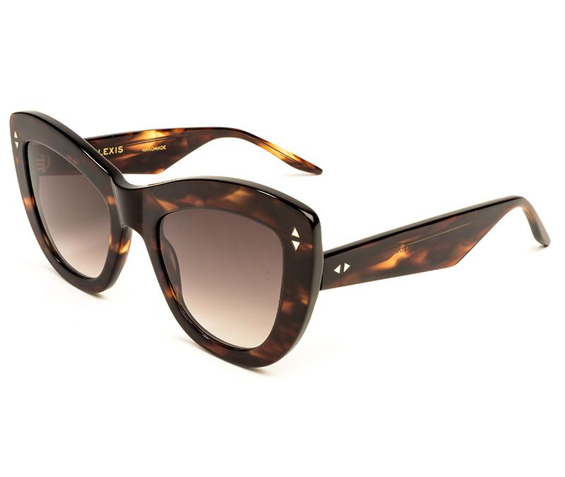 Alexis Amor Nathalie sunglasses in Caramel Havana Stripe