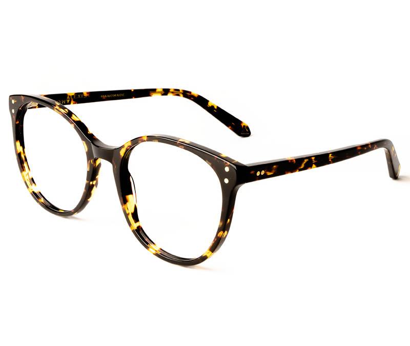 Alexis Amor Olive frames in Amber Fleck