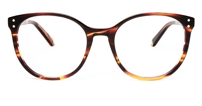 Alexis Amor Olive frames in Smooth Caramel Stripe