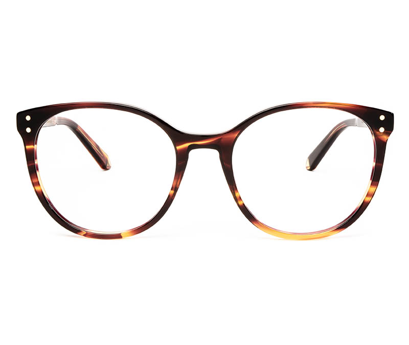 Alexis Amor Olive frames in Smooth Caramel Stripe