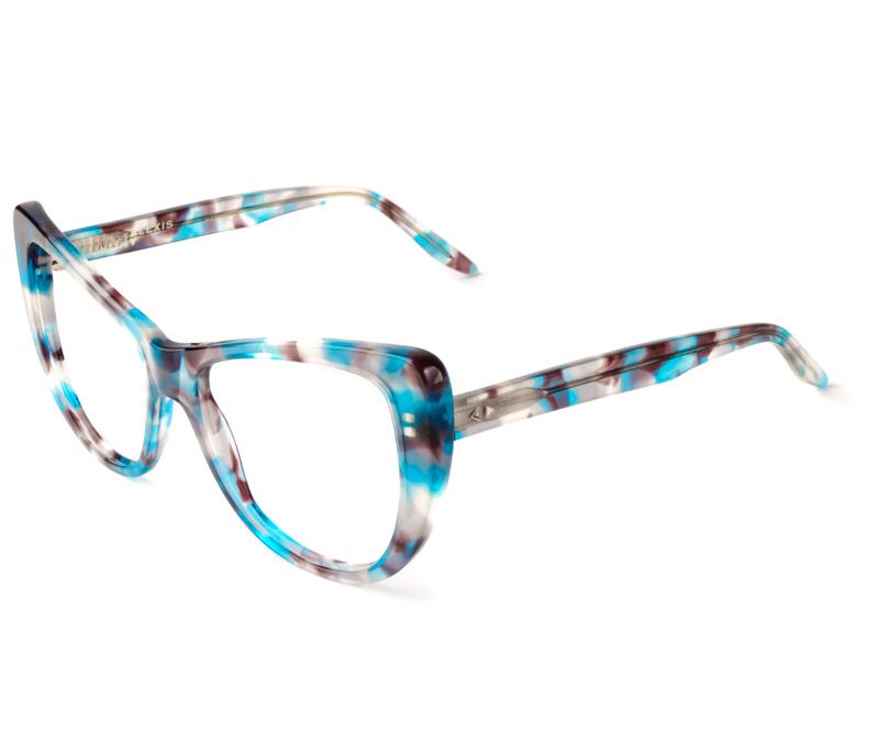 Alexis Amor Ottilie frames in Blue Havana Tortoise