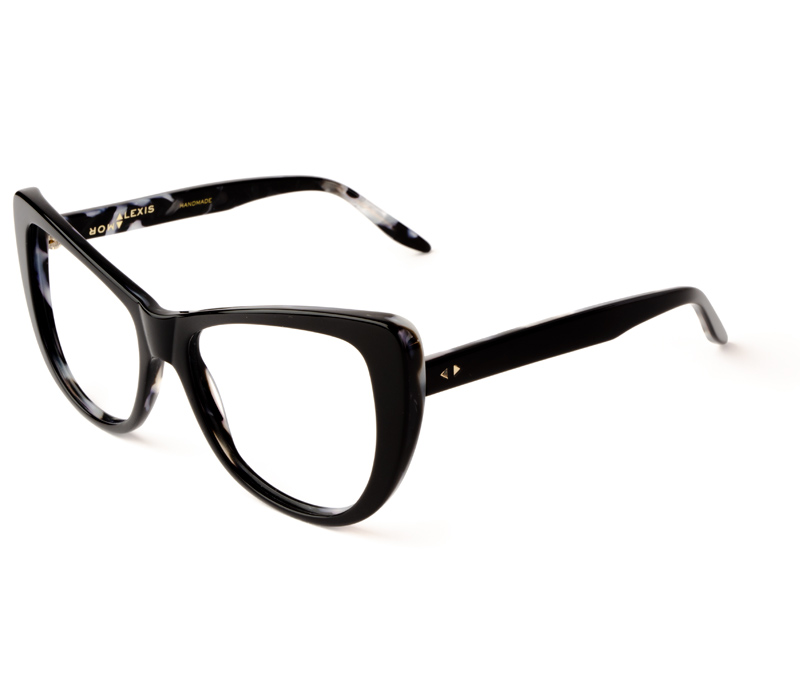 Alexis Amor Ottilie frames in Gloss Piano Black Marble