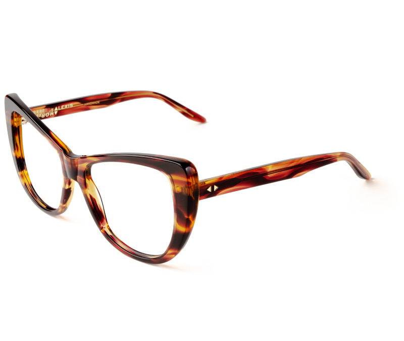 Alexis Amor Ottilie frames in Smooth Caramel Stripe