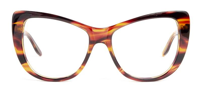 Alexis Amor Ottilie frames in Smooth Caramel Stripe