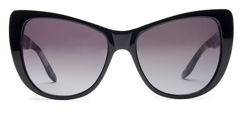 Alexis Amor Ottilie sunglasses in Gloss Piano Black Marble
