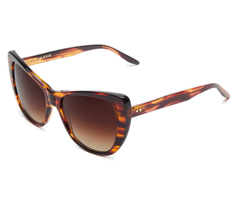Alexis Amor Ottilie SALE sunglasses in Smooth Caramel Stripe
