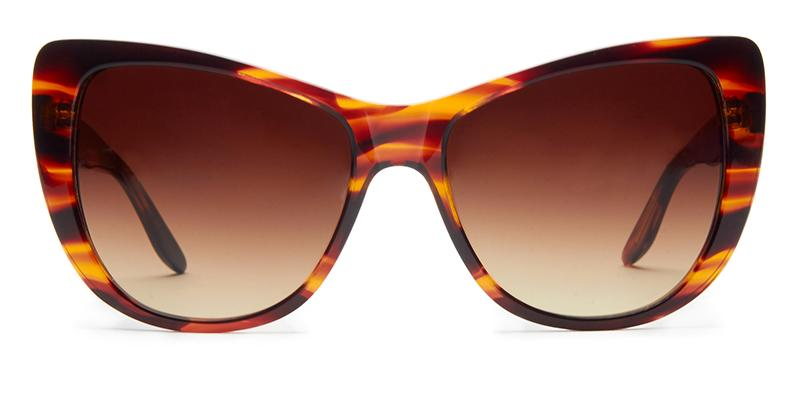 Alexis Amor Ottilie sunglasses in Smooth Caramel Stripe