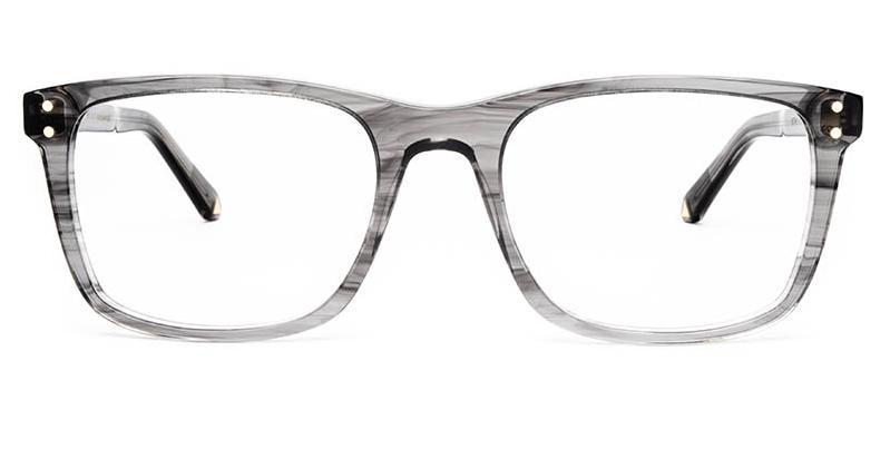 Alexis Amor Remi frames in Light Grey Stripe