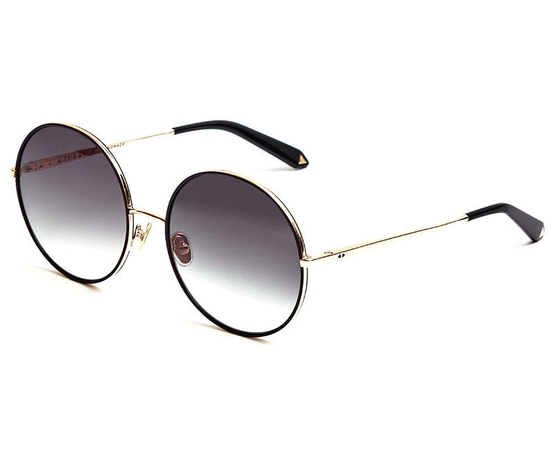 Alexis Amor Rio sunglasses in Mirror Gold Gloss Black