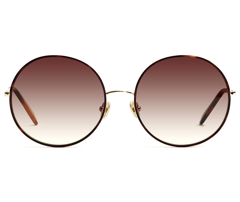 Alexis Amor Rio sunglasses in Mirror Gold Shiny Havana