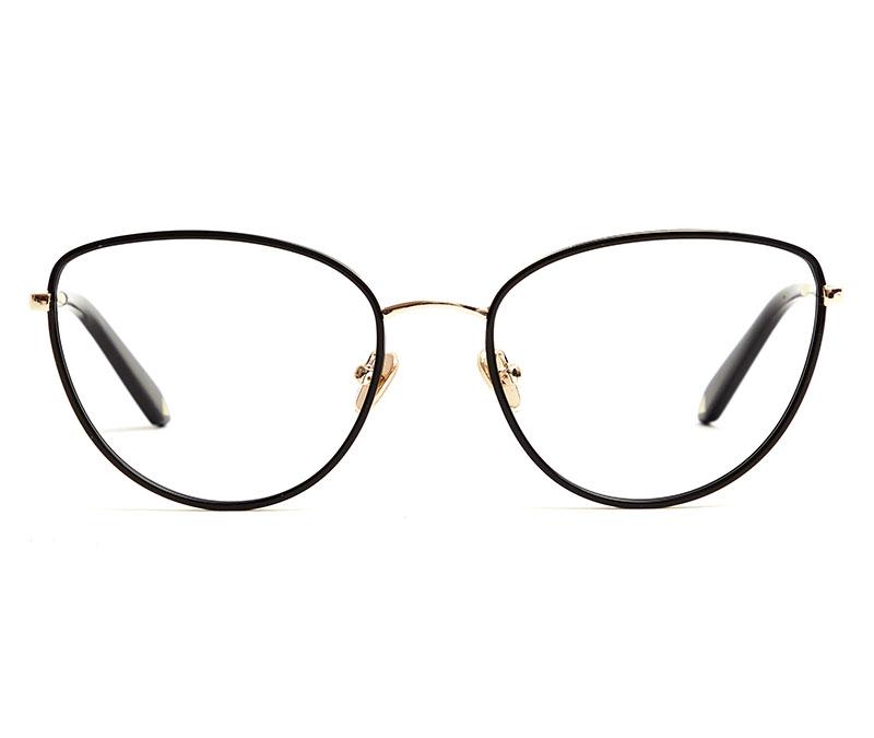 Alexis Amor Rita frames in Mirror Gold Gloss Black