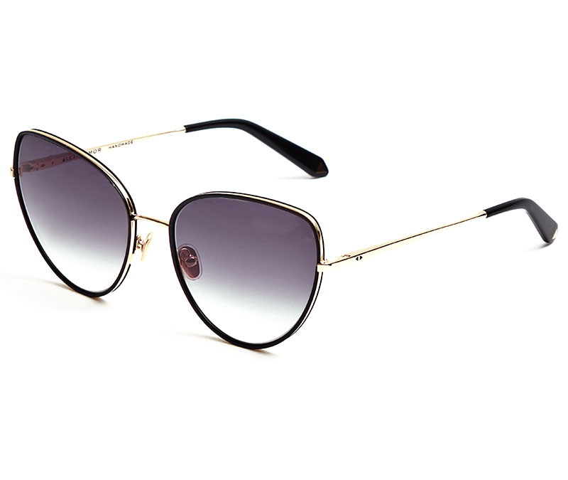 Alexis Amor Rita X sunglasses in Mirror Gold Gloss Black