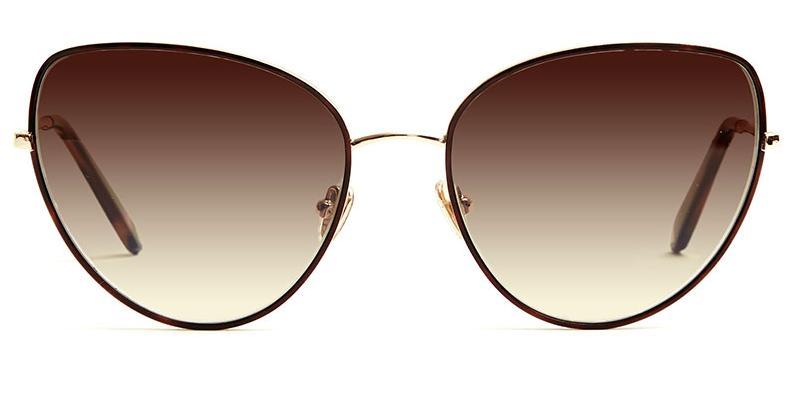 Alexis Amor Rita X sunglasses in Mirror Gold Shiny Havana