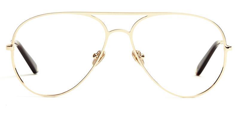 Alexis Amor Sacha frames in Mirror Gold