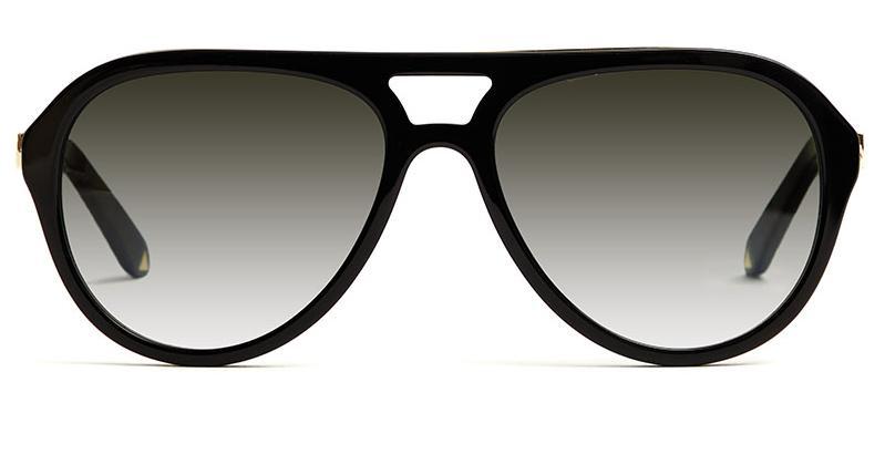Alexis Amor Sonny sunglasses in Mirror Gold Gloss Black