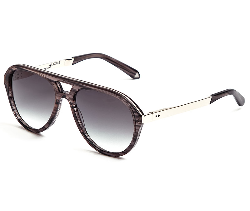 Alexis Amor Sonny sunglasses in Mirror Silver Grey Stripe