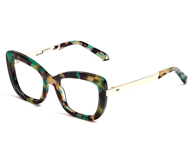 Alexis Amor Suki frames in Turquoise Tortoise