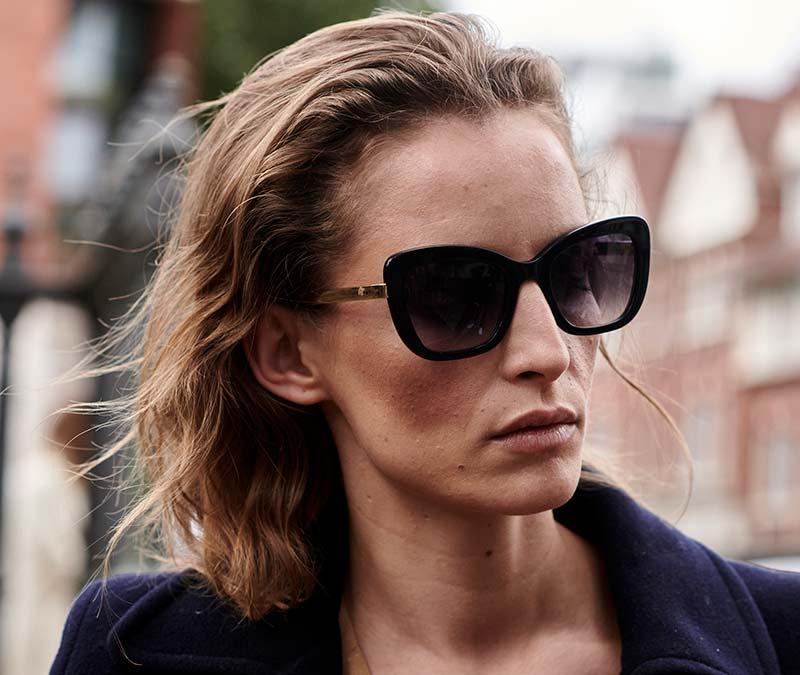 Alexis Amor Suki sunglasses in Amber Fleck