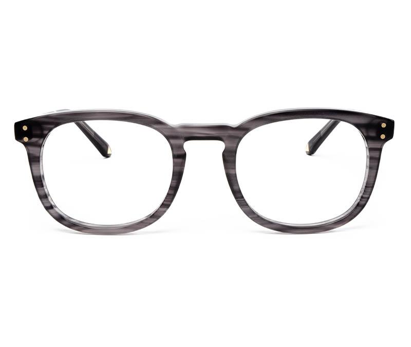 Alexis Amor Syd frames in Matte Grey Stripe