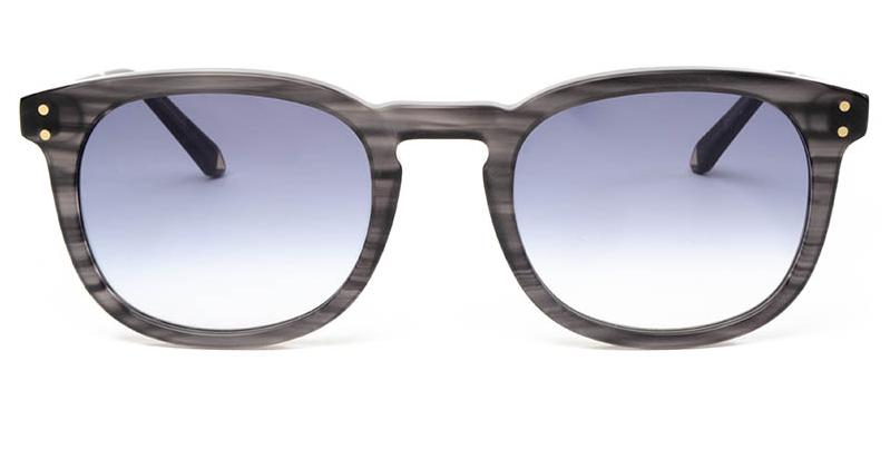 Alexis Amor Syd sunglasses in Matte Grey Stripe