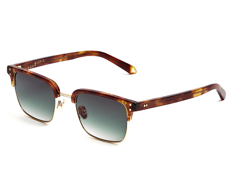 Alexis Amor Teddy sunglasses in Mirror Gold Super Luxe Havana