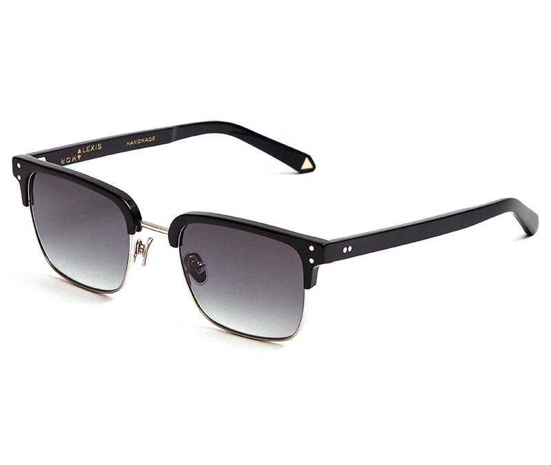 Alexis Amor Teddy sunglasses in Mirror Silver Gloss Black