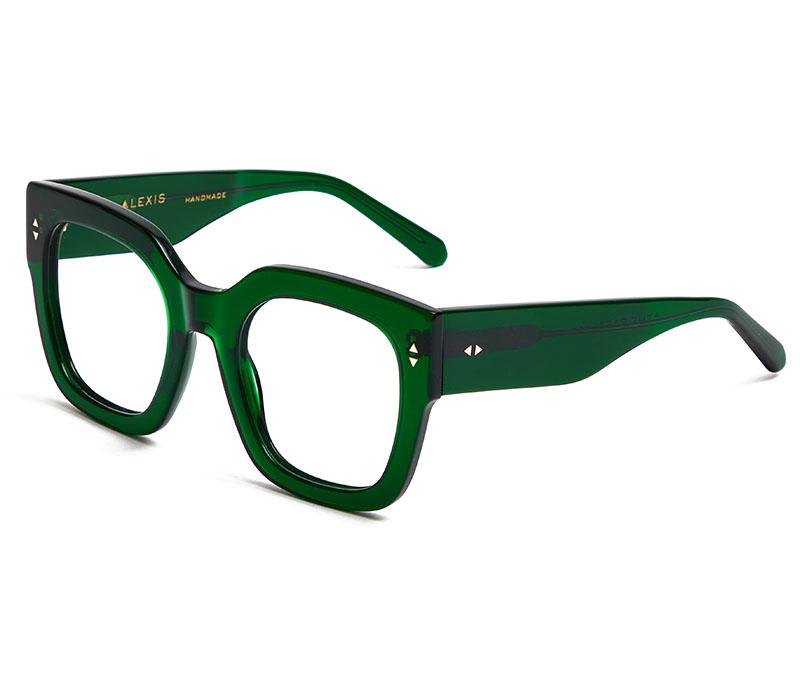 Alexis Amor The Rae frames in Deepest Darkest Emerald