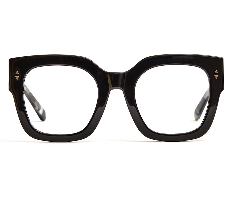 Alexis Amor The Rae frames in Gloss Piano Black + Marble