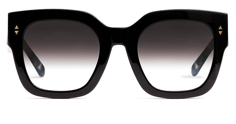 Alexis Amor The Rae sunglasses in Gloss Piano Black + Marble