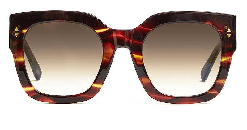 Alexis Amor The Rae sunglasses in Smooth Caramel Stripe