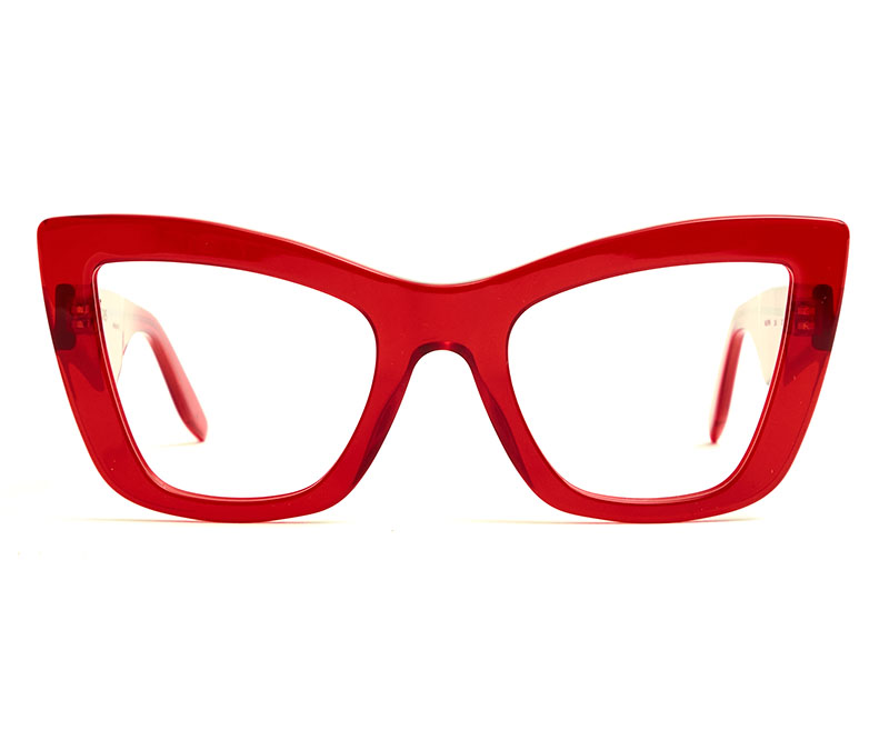 Alexis Amor Valentine frames in Candy Apple Red