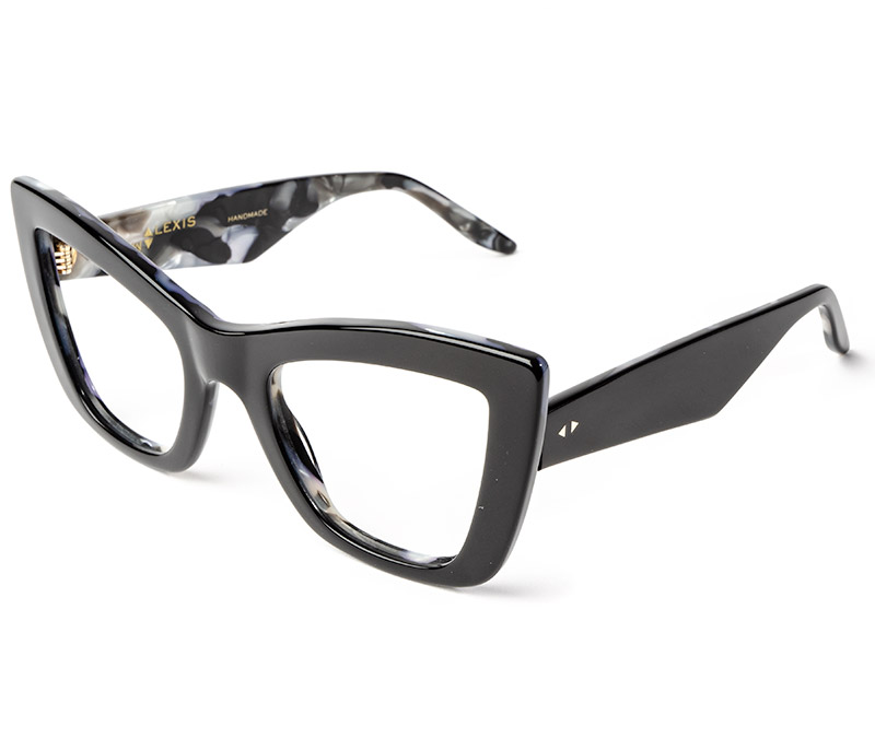 Alexis Amor Valentine frames in Gloss Piano Black - Marble