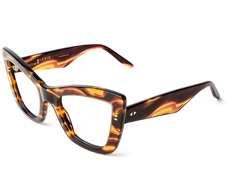 Alexis Amor Valentine frames in Smooth Caramel Stripe