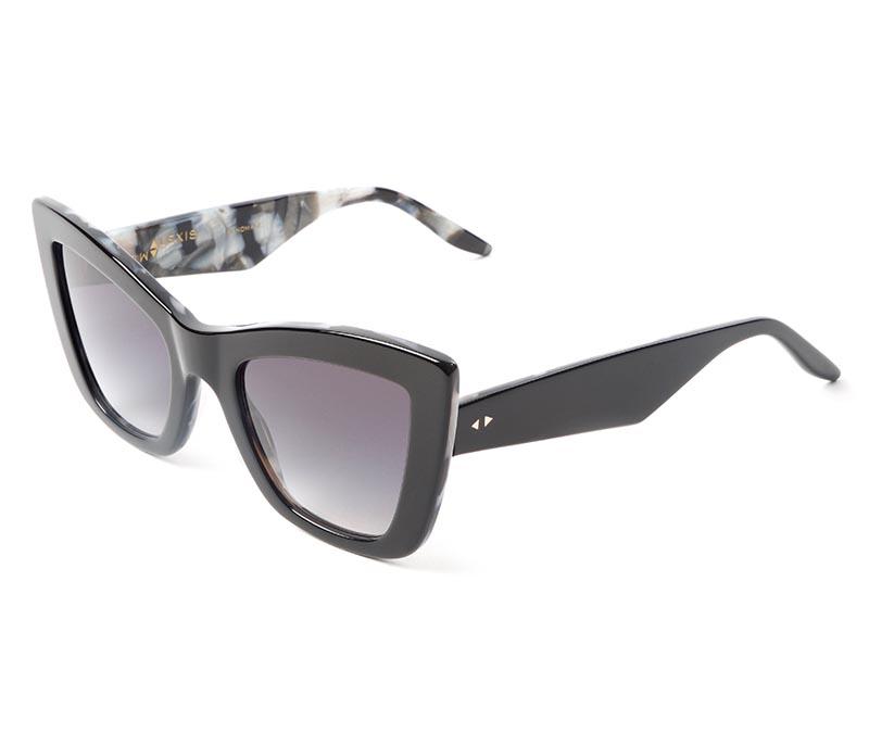 Alexis Amor Valentine SALE sunglasses in Gloss Piano Black Marble