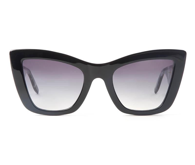 Alexis Amor Valentine sunglasses in Gloss Piano Black Marble