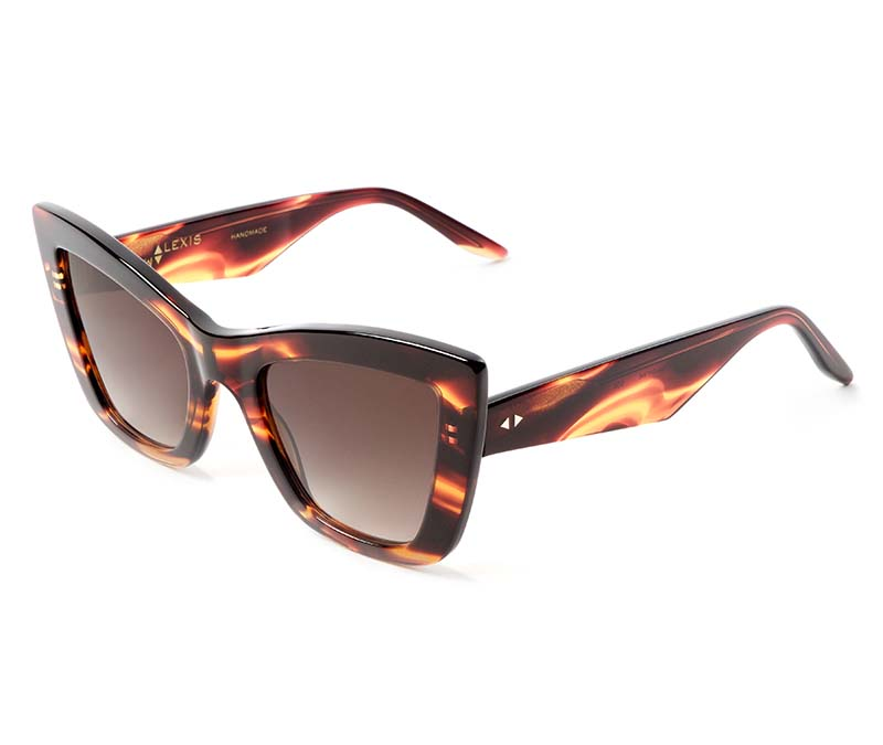 Alexis Amor Valentine SALE sunglasses in Smooth Caramel Stripe