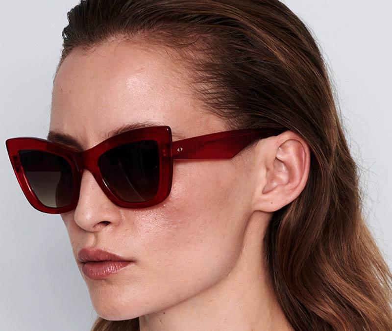 Alexis Amor Valentine sunglasses in Smooth Caramel Stripe