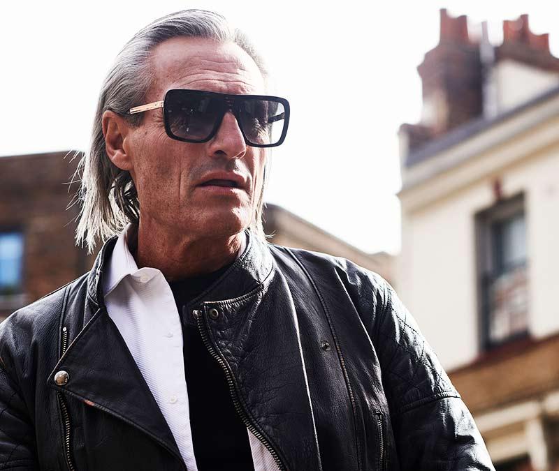 Alexis Amor Vito sunglasses in Mirror Gold Gloss Black